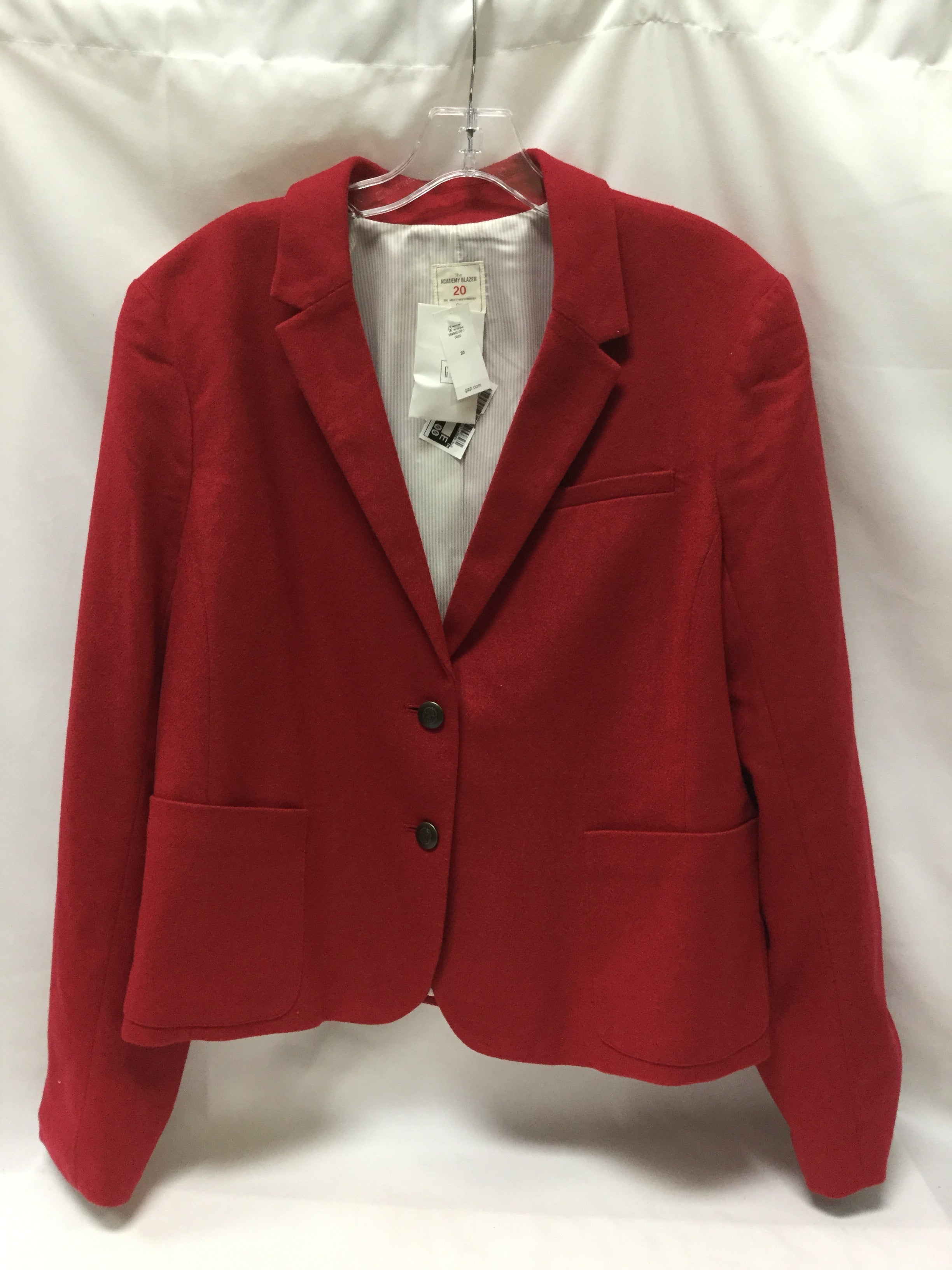 Primary Photo - BRAND: GAP <BR>STYLE: BLAZER JACKET <BR>COLOR: RED <BR>SIZE: 1X <BR>SKU: 155-15599-228309