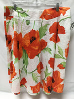 Primary Photo - BRAND: SAG HARBOR <BR>STYLE: SKIRT <BR>COLOR: FLORAL <BR>SIZE: 1X <BR>SKU: 155-155224-9215<BR>WHITE GREEN ORANGE