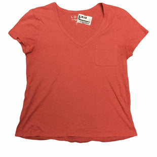 Primary Photo - BRAND: LOFT STYLE: TOP SHORT SLEEVE COLOR: ORANGE SIZE: S SKU: 155-155228-3946