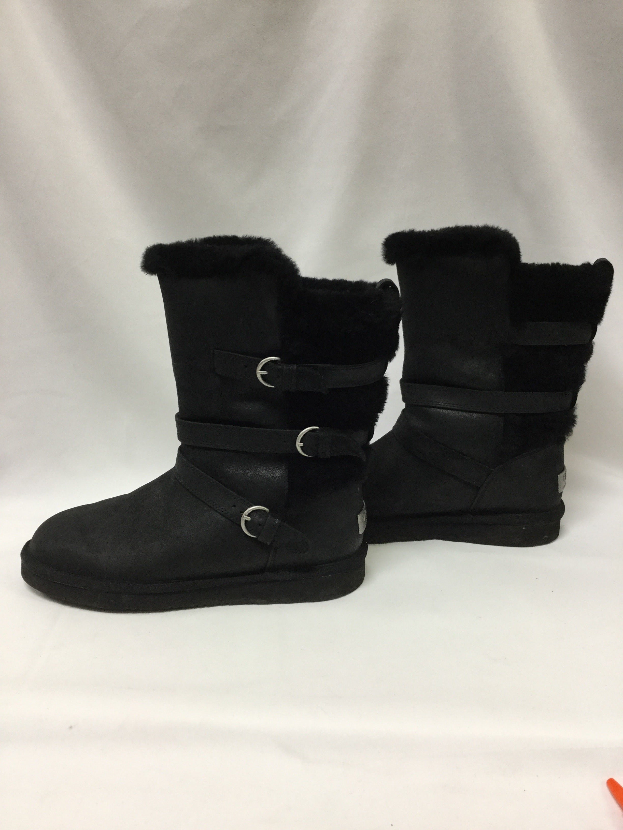 Photo #2 - BRAND: UGG <BR>STYLE: BOOTS KNEE <BR>COLOR: BLACK <BR>SIZE: 11 <BR>SKU: 155-15599-235498