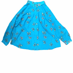 Primary Photo - BRAND: AGB STYLE: TOP LONG SLEEVE COLOR: BLUE SIZE: 3X OTHER INFO: BUTTERFLY SKU: 155-155201-17180