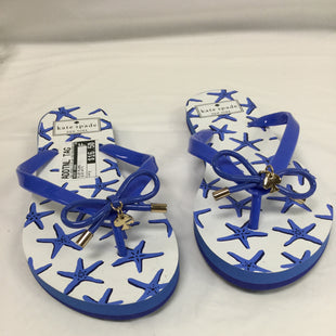 Primary Photo - BRAND: KATE SPADE STYLE: FLIP FLOPS COLOR: BLUE WHITE SIZE: 7 SKU: 155-155201-13791