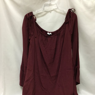 Primary Photo - BRAND: TOBI STYLE: DRESS SHORT LONG SLEEVE COLOR: MAROON SIZE: L SKU: 155-155224-11999
