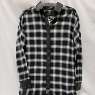 Primary Photo - BRAND: BANANA REPUBLIC STYLE: DRESS SHORT LONG SLEEVE COLOR: PLAID SIZE: S SKU: 155-155130-201715