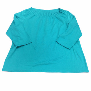 Primary Photo - BRAND: TALBOTS STYLE: TOP LONG SLEEVE COLOR: TURQUOISE SIZE: 1X OTHER INFO: NEW! SKU: 155-155185-6303