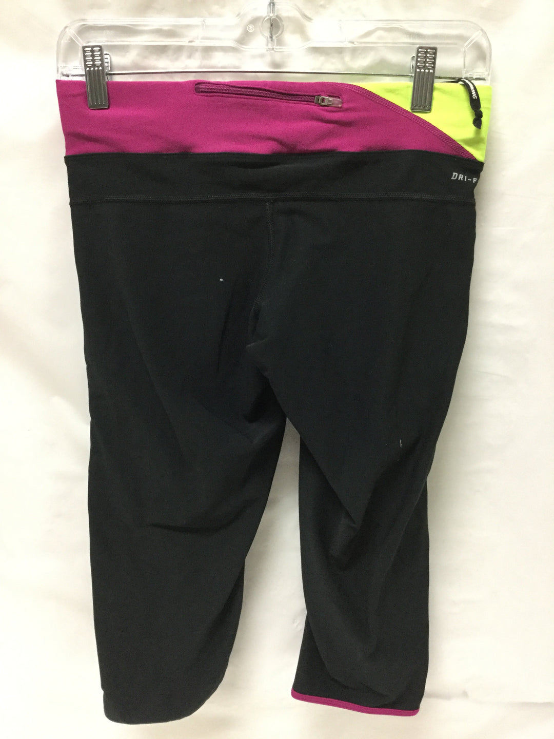 Photo #1 - BRAND: NIKE APPAREL <BR>STYLE: ATHLETIC CAPRIS <BR>COLOR: BLACK MAGENTA NEON YELLOW <BR>SIZE: S <BR>OTHER INFO: NOTED <BR>SKU: 155-155130-207794
