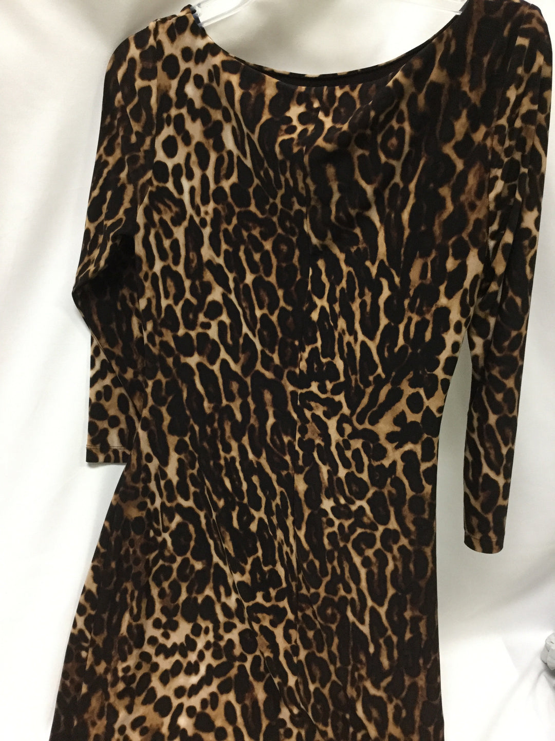 Photo #1 - BRAND: LAUREN BY RALPH LAUREN <BR>STYLE: DRESS SHORT LONG SLEEVE <BR>COLOR: ANIMAL PRINT <BR>SIZE: 6 <BR>SKU: 155-155228-991