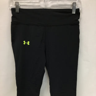 Primary Photo - BRAND: UNDER ARMOUR STYLE: ATHLETIC CAPRIS COLOR: BLACK AND NEON YELLOW SIZE: S SKU: 155-15599-220546