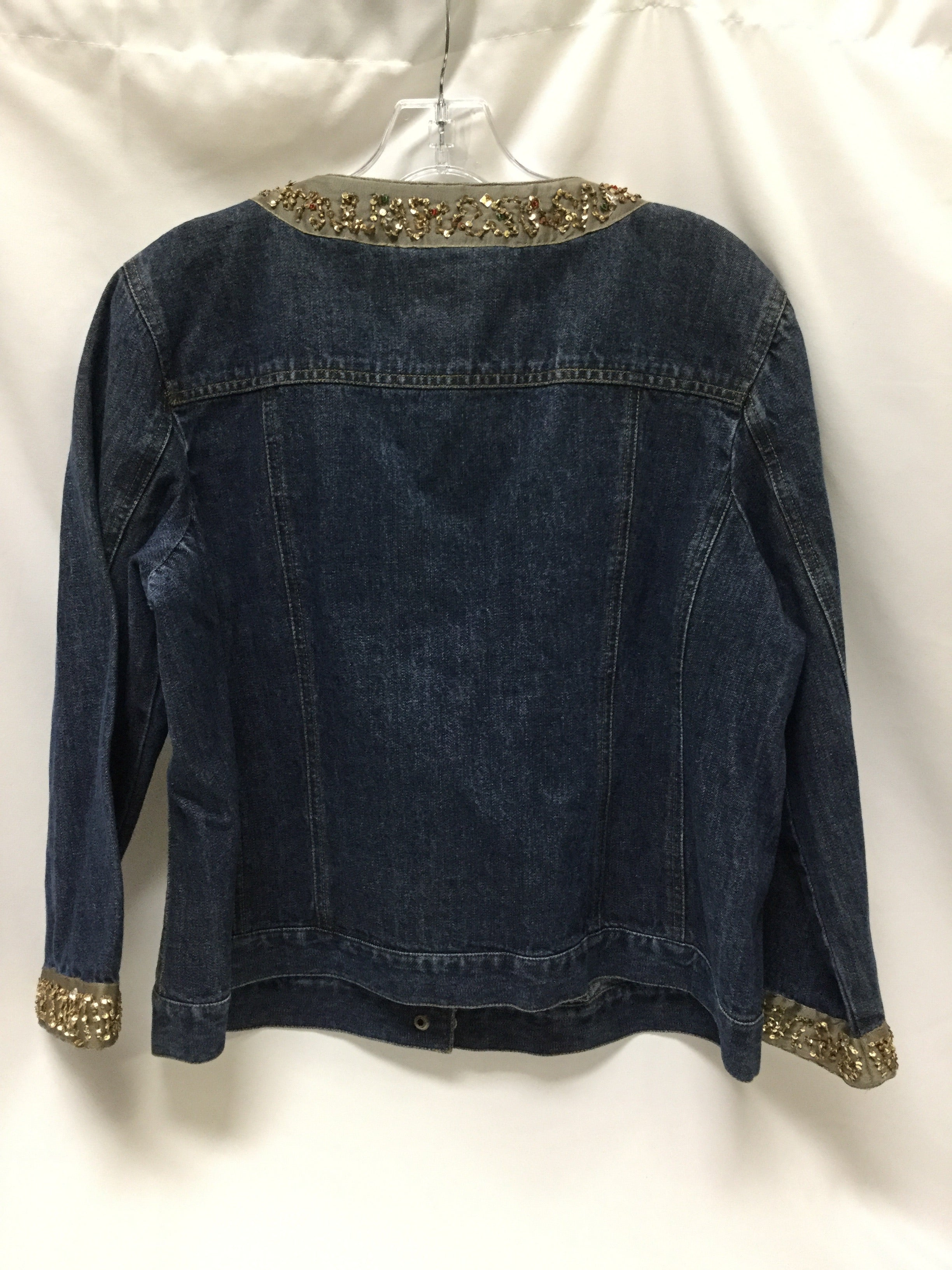 Photo #3 - BRAND: FIRST ISSUE <BR>STYLE: BLAZER JACKET <BR>COLOR: DENIM <BR>SIZE: XL <BR>SKU: 155-155224-13521