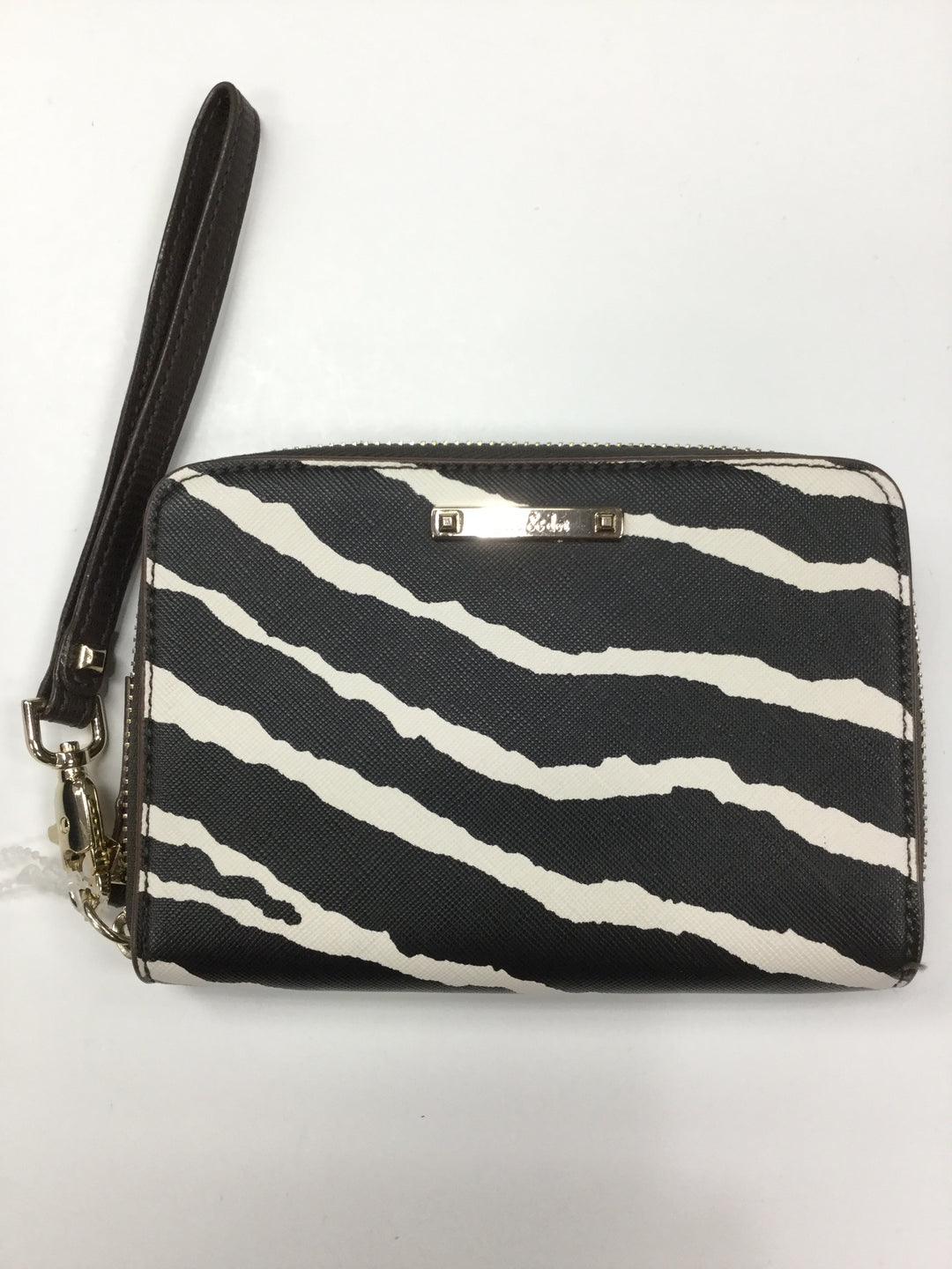 Primary Photo - BRAND: STELLA AND DOT <BR>STYLE: WRISTLET<BR>COLOR: ZEBRA PRINT <BR>SIZE: SMALL <BR>SKU: 155-155190-1868R<BR>BLACK AND WHITE AND BROWN