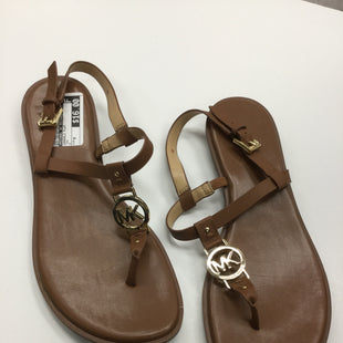 Primary Photo - BRAND: MICHAEL BY MICHAEL KORS STYLE: SANDALS FLAT COLOR: TAN SIZE: 9 SKU: 155-155187-23200