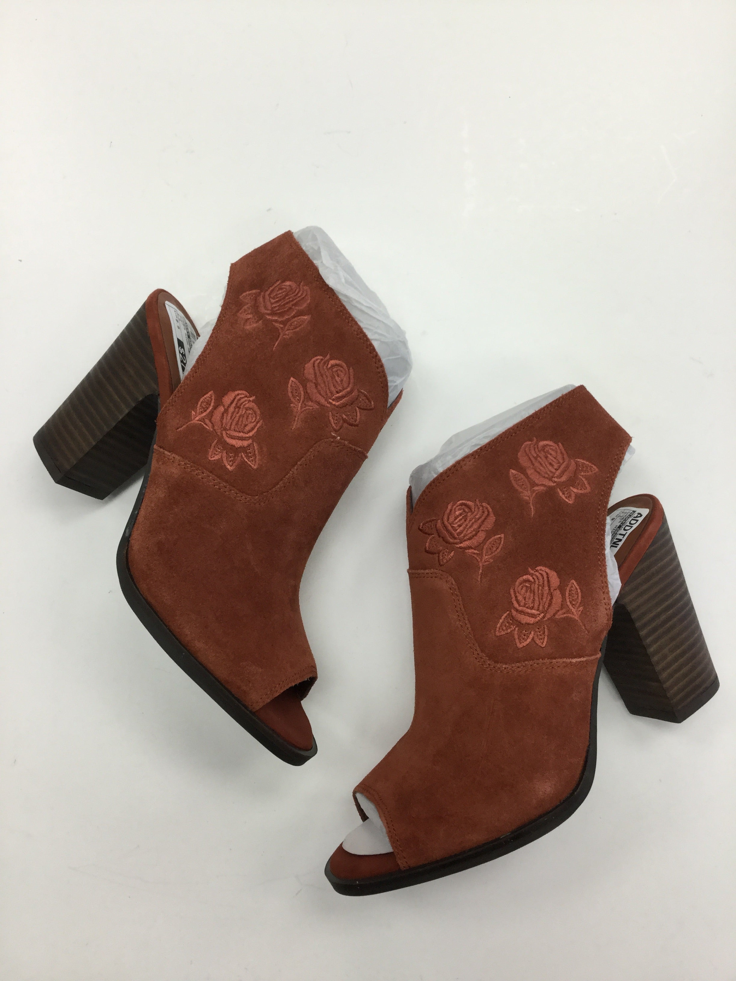Photo #1 - BRAND: LUCKY BRAND <BR>STYLE: SHOES HIGH HEEL <BR>COLOR: RUST <BR>SIZE: 9.5 <BR>SKU: 155-15545-206550