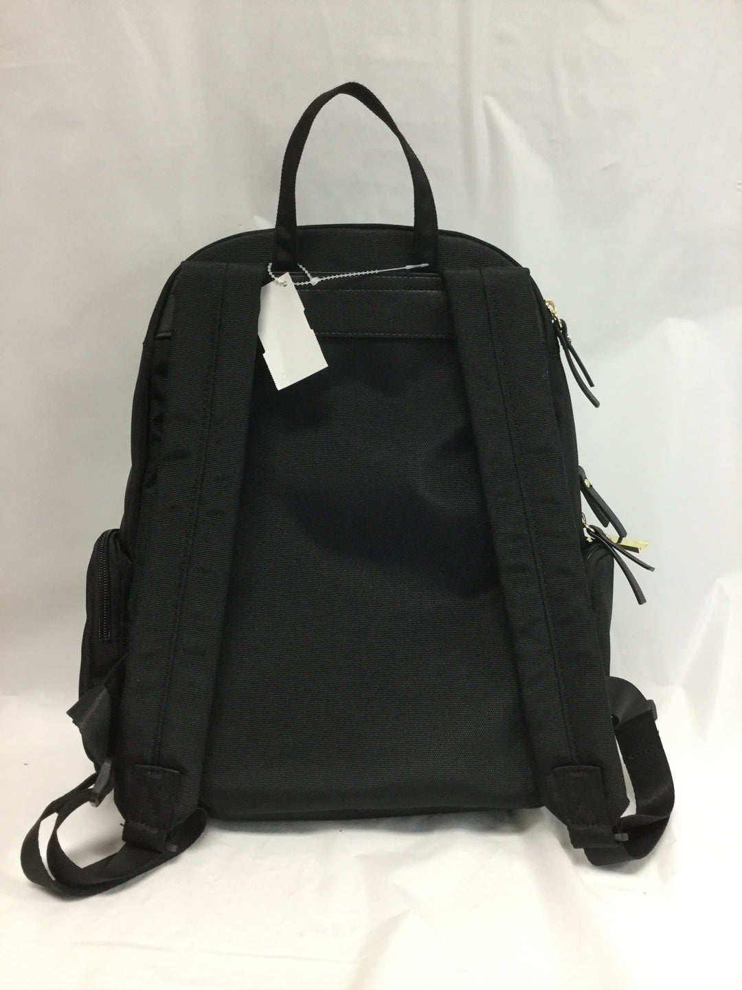 Photo #1 - BRAND:   CMC <BR>STYLE: BACKPACK <BR>COLOR: BLACK <BR>SIZE: MEDIUM <BR>OTHER INFO: TUTILO NEW YORK - <BR>SKU: 155-155227-116<BR>GOLD HARDWARE, APPROX. 14'X20'<BR>