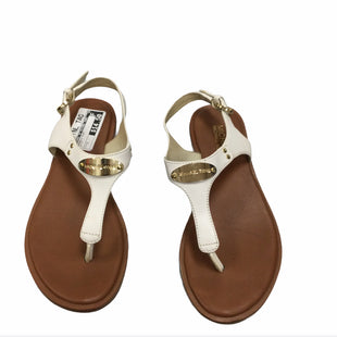 Primary Photo - BRAND: MICHAEL BY MICHAEL KORS STYLE: SANDALS FLAT COLOR: WHITE SIZE: 7 SKU: 155-155201-13792