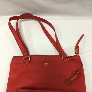 Primary Photo - BRAND: FOSSIL STYLE: HANDBAG COLOR: RED SIZE: MEDIUM SKU: 155-155215-2957