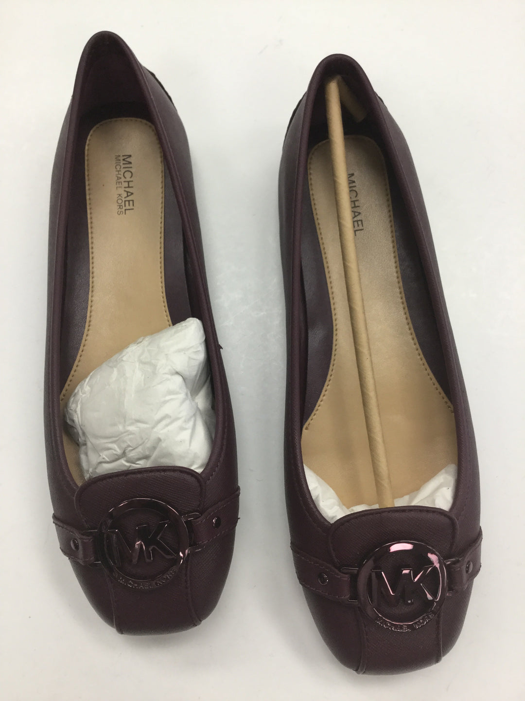 Primary Photo - BRAND: MICHAEL BY MICHAEL KORS <BR>STYLE: SHOES FLATS <BR>COLOR: MAROON <BR>SIZE: 9 <BR>SKU: 155-15545-207101