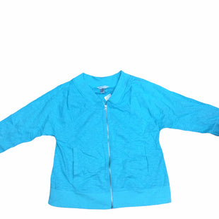 Primary Photo - BRAND: CHRISTOPHER AND BANKS STYLE: ATHLETIC JACKET COLOR: TURQUOISE SIZE: M SKU: 155-155224-17417