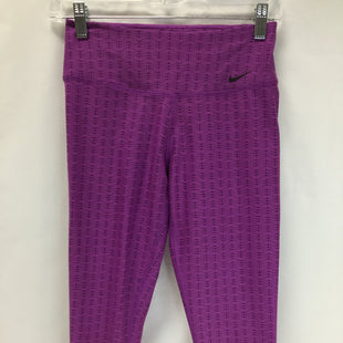 Primary Photo - BRAND: NIKE STYLE: ATHLETIC CAPRIS COLOR: PURPLE AND BLACK SIZE: XS SKU: 155-15545-203916