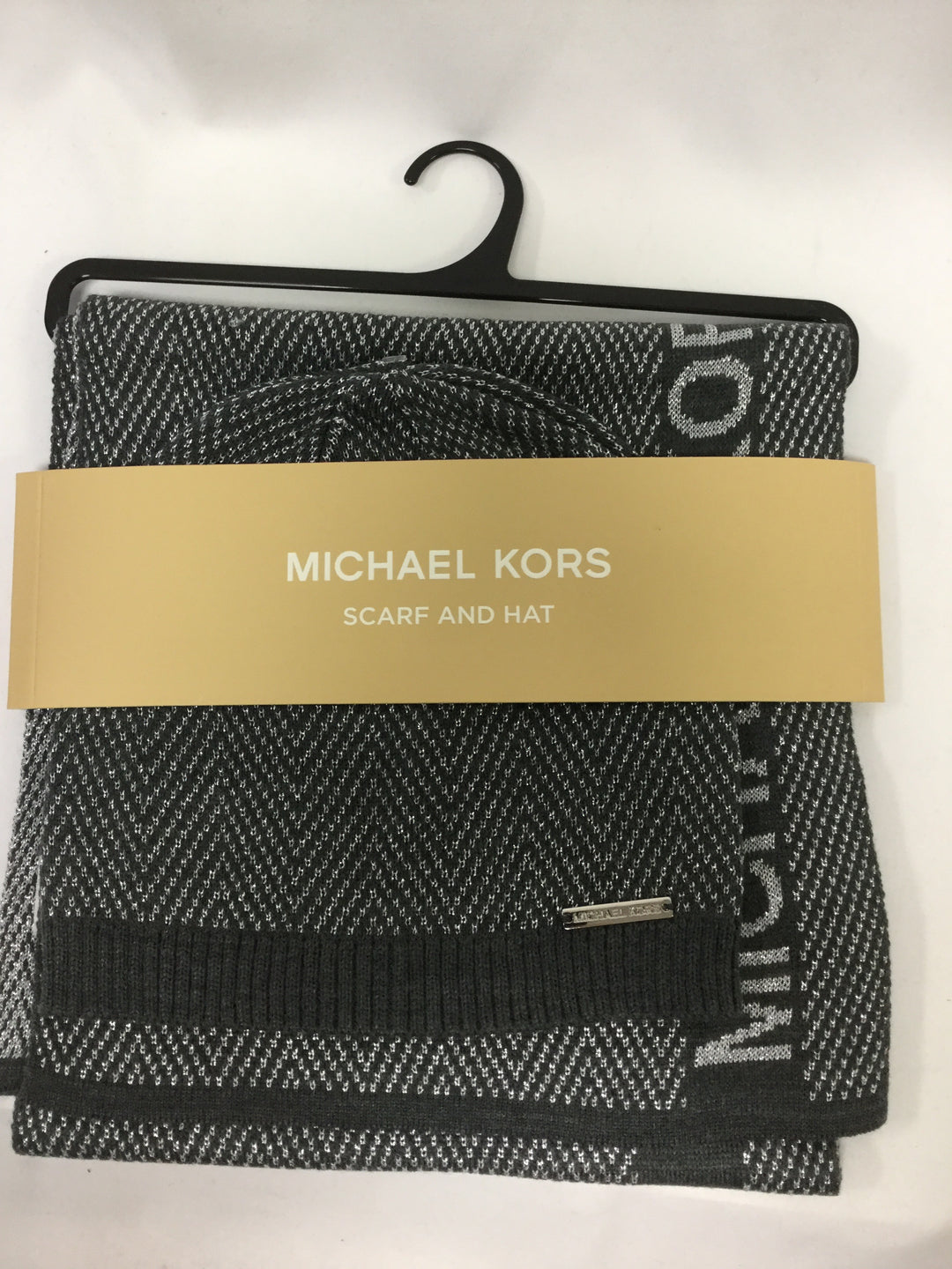 Primary Photo - BRAND: MICHAEL BY MICHAEL KORS <BR>STYLE: SCARF WINTER <BR>COLOR: SILVER <BR>OTHER INFO: 2 PIECE SET <BR>SKU: 155-155130-213249