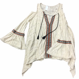 Primary Photo - BRAND: FREE PEOPLE STYLE: TOP LONG SLEEVE COLOR: TAN SIZE: S SKU: 155-15599-245673