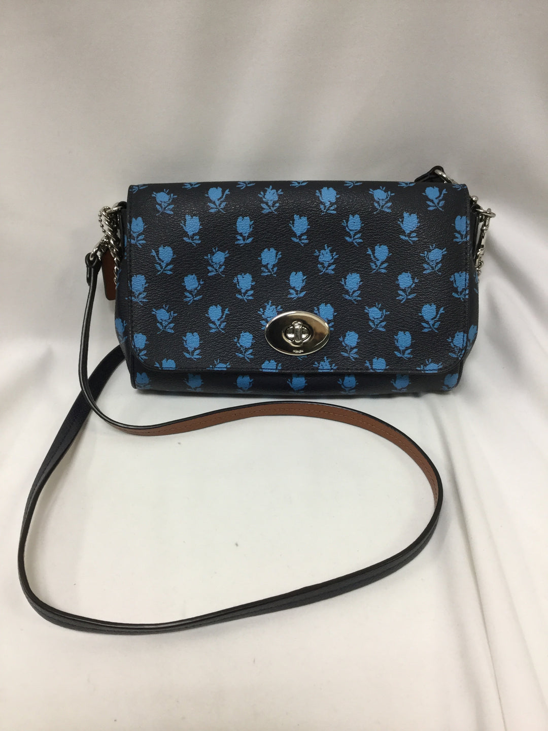 Photo #3 - BRAND: COACH <BR>STYLE: HANDBAG DESIGNER <BR>COLOR: NAVY <BR>SIZE: SMALL <BR>SKU: 155-155220-7143