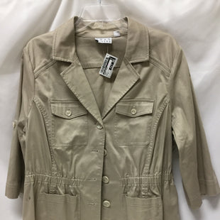 Primary Photo - BRAND: JOAN RIVERS STYLE: BLAZER JACKET COLOR: KHAKI SIZE: 1X SKU: 155-15545-209563
