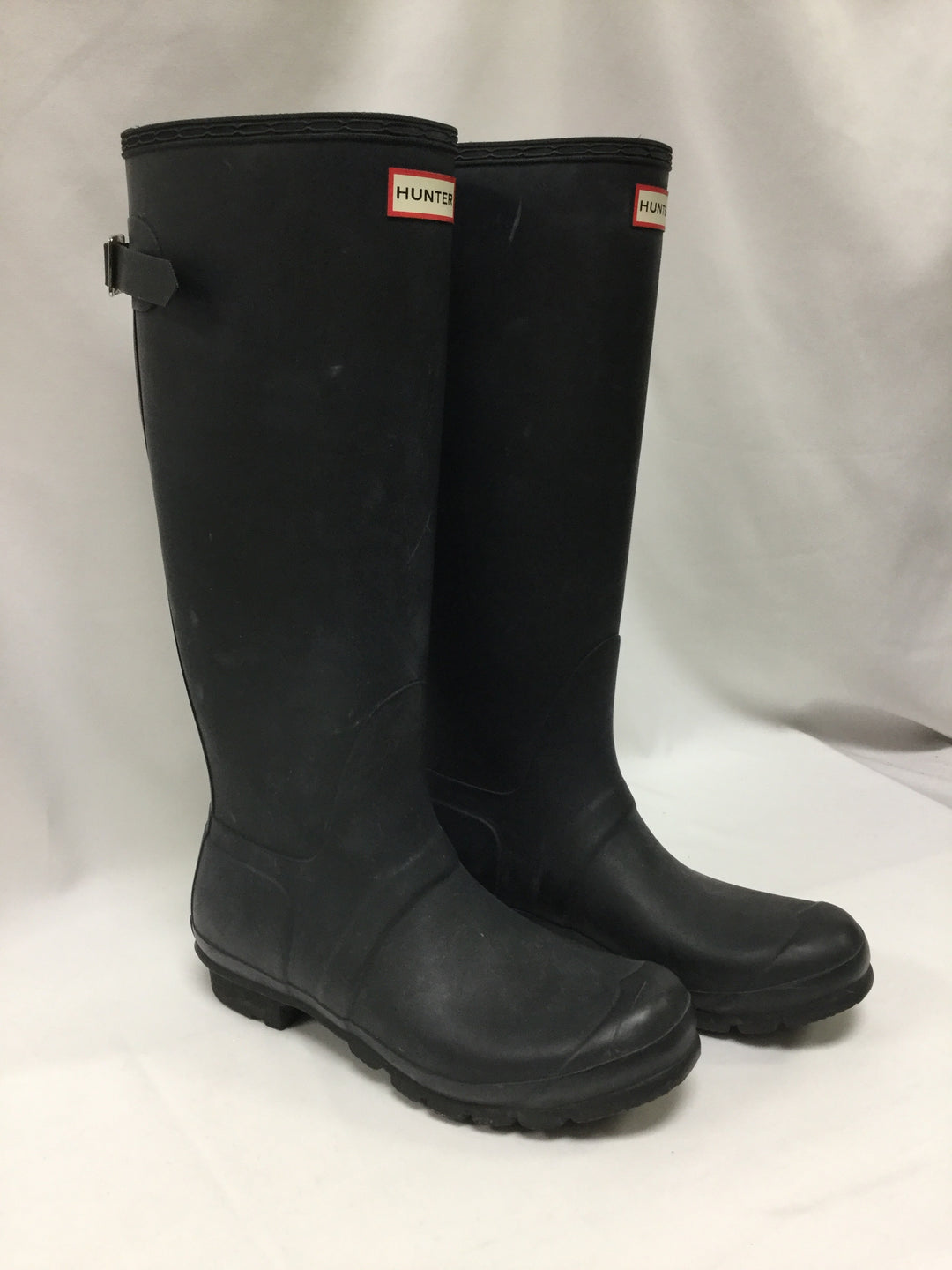 Primary Photo - BRAND: HUNTER <BR>STYLE: BOOTS ANKLE <BR>COLOR: BLACK <BR>SIZE: 10 <BR>OTHER INFO: NOTED WEAR <BR>SKU: 155-15599-236144