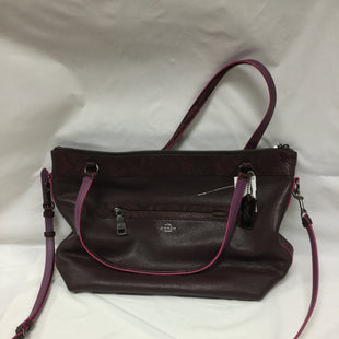 Primary Photo - BRAND: COACH STYLE: HANDBAG DESIGNER COLOR: BURGUNDY SIZE: LARGE OTHER INFO: CORNER WEAR - SOLD AS IS SKU: 155-155224-6245