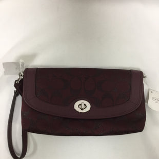 Primary Photo - BRAND: COACH STYLE: WRISTLET COLOR: BURGUNDY SKU: 155-155228-1526