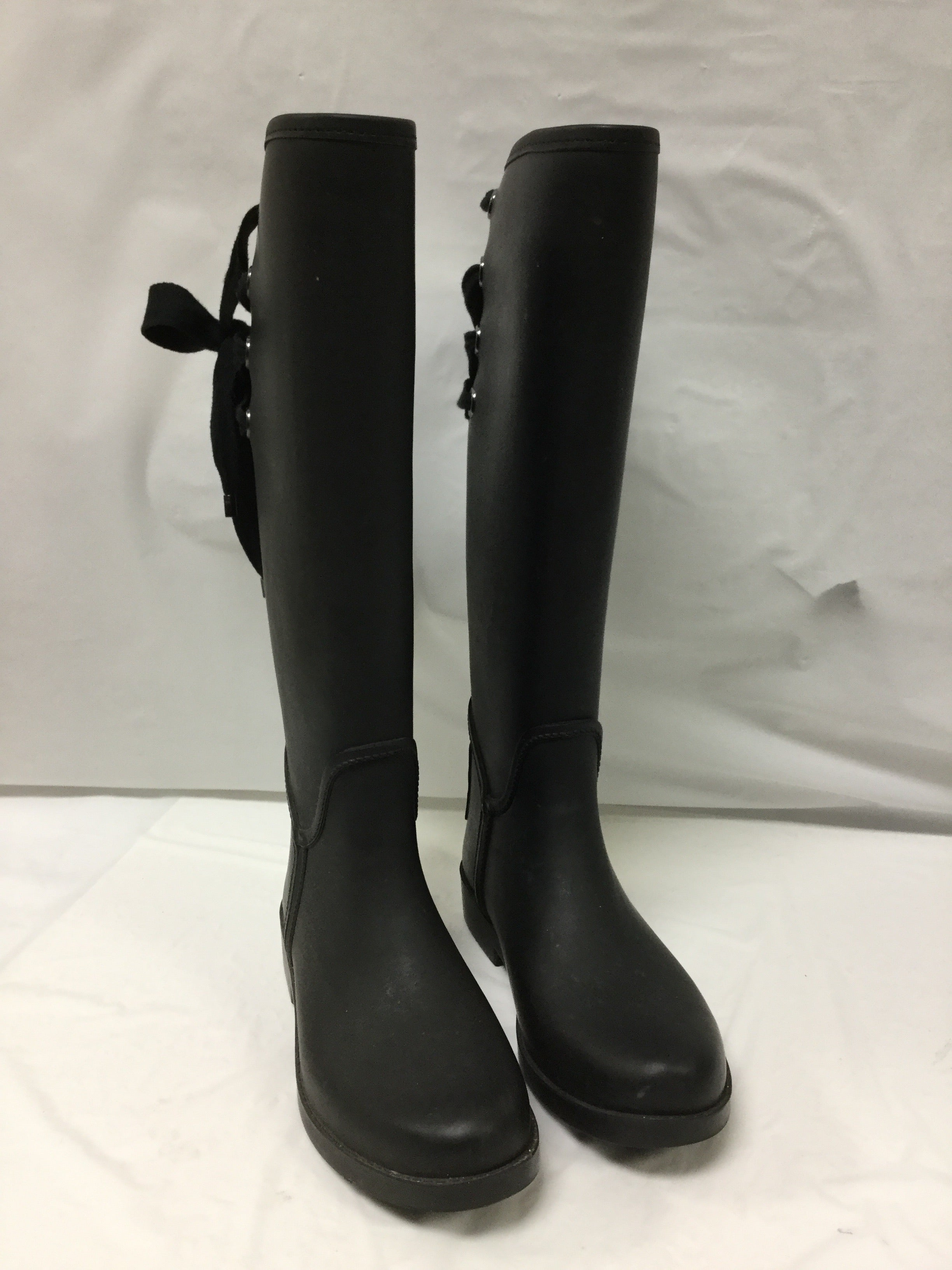 Primary Photo - BRAND: COACH <BR>STYLE: BOOTS RAIN <BR>COLOR: BLACK <BR>SIZE: 6 <BR>OTHER INFO: SLIGHT WEAR NOTED <BR>SKU: 155-155130-204966