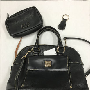 Primary Photo - BRAND: DOONEY AND BOURKE STYLE: HANDBAG DESIGNER COLOR: BLACK SIZE: LARGE OTHER INFO: 3 PIECE SET SLIGHT LINING WEAR SKU: 155-155130-214620