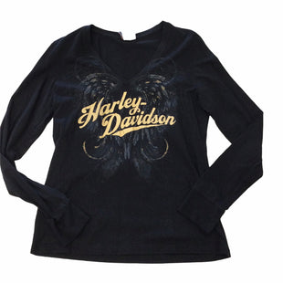 Primary Photo - BRAND: HARLEY DAVIDSON STYLE: TOP LONG SLEEVE BASIC COLOR: BLACK SIZE: L SKU: 155-155130-217376