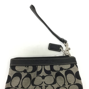 Primary Photo - BRAND: COACH STYLE: WRISTLET COLOR: BLACK WHITE SIZE: S SKU: 155-155215-3638