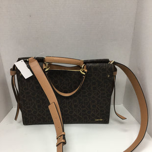 Primary Photo - BRAND: CALVIN KLEIN STYLE: HANDBAG COLOR: BROWN SIZE: LARGE SKU: 155-155220-8782