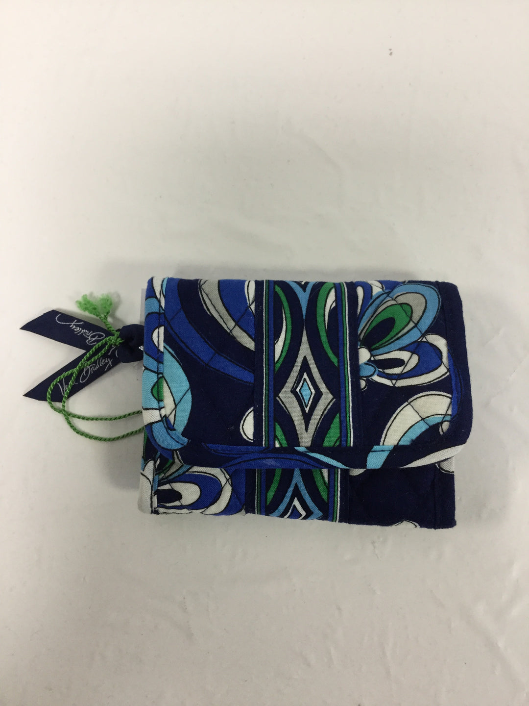 Primary Photo - BRAND: VERA BRADLEY O <BR>STYLE: WALLET <BR>COLOR: BLUE GREEN <BR>SIZE: SMALL <BR>OTHER INFO: NEW! <BR>SKU: 155-155130-203006<BR>POCKET WALLET IN MEDITERRANEAN BLUE