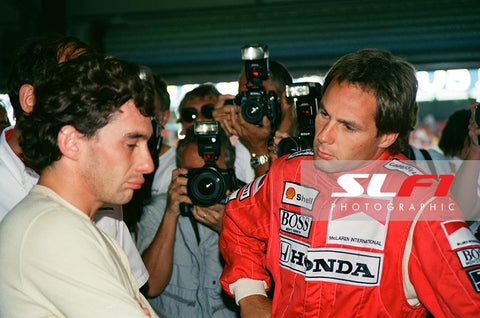 Ayrton Senna & Gerhard Berger - 1991 British Grand Prix