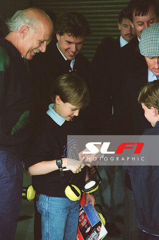 Prince William, Jackie Stewart & Paul Stewart - 1991 British Grand Prix