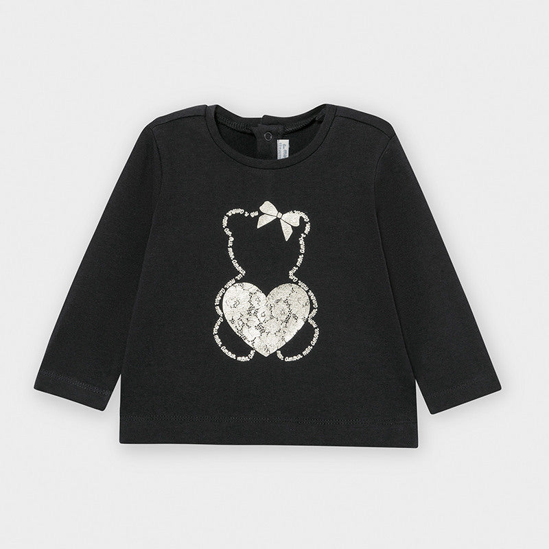 Navy Bear Long Sleeved T-shirt