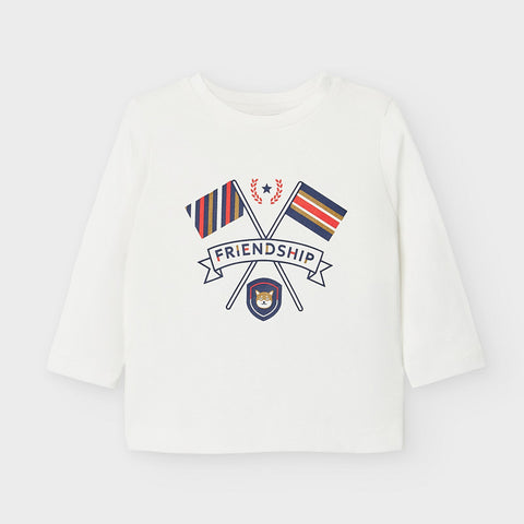 White Friendship Long Sleeved T-shirt