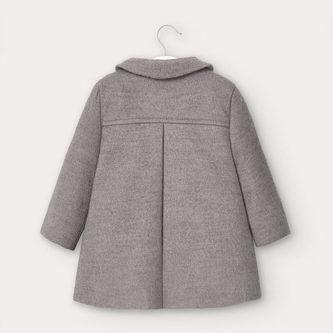 Grey Coat with Ruffles