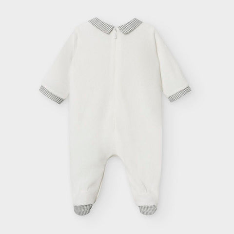 Cream Deer Velour Collared Pyjama