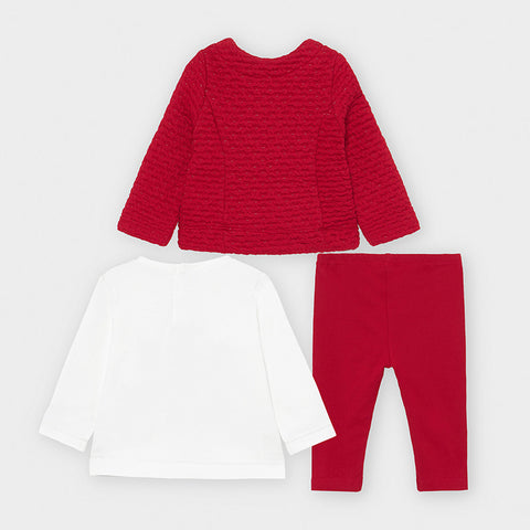 Red and White 3-piece Set