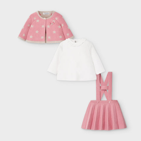 Pink Star Knit 3-Piece Set
