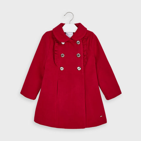 Red Coat with Ruffles