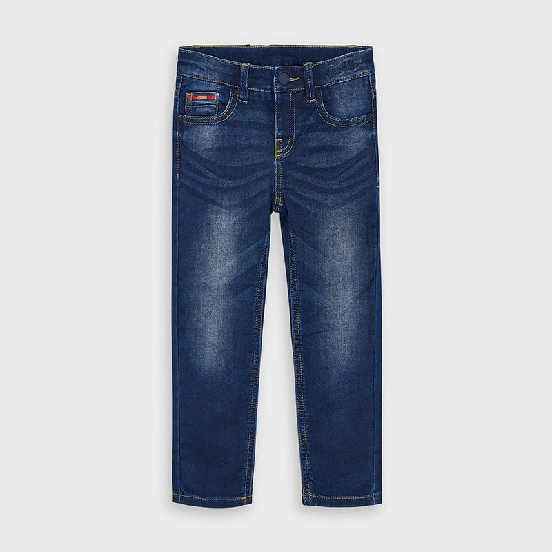 Slim Fit Denim Jeans in Dark Wash