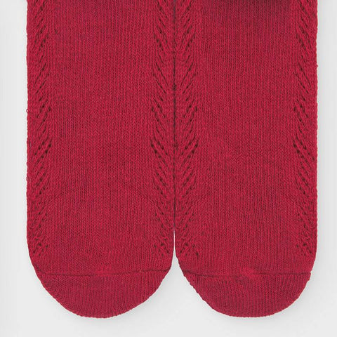 Baby Red Knit Tights
