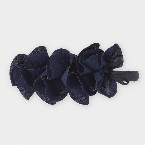 Navy Ruffled Headband