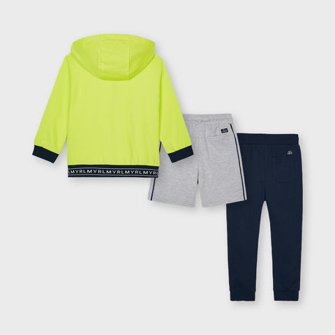 Neon Green 3-piece Tracksuit Set