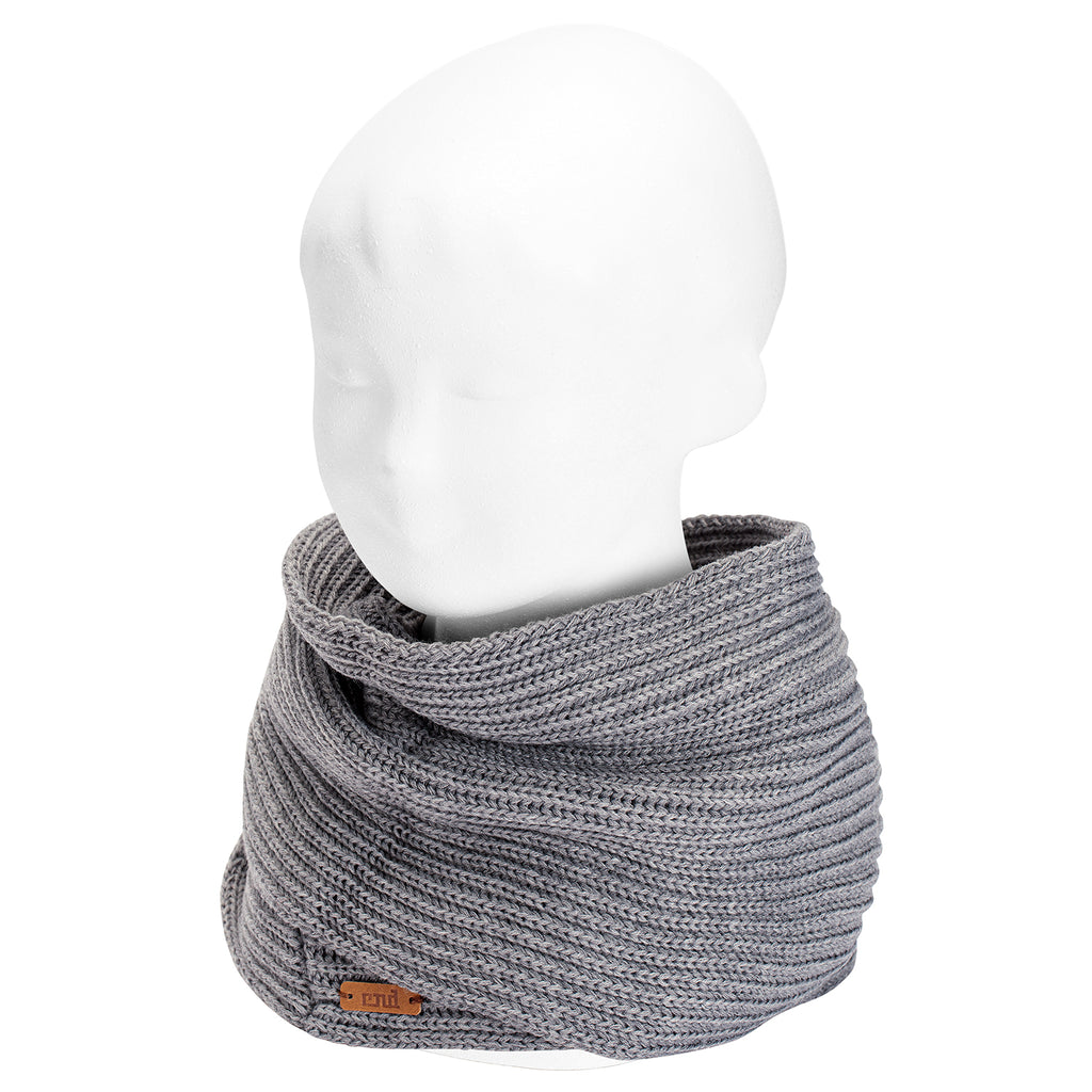 Grey English Stitch Infinity Scarf