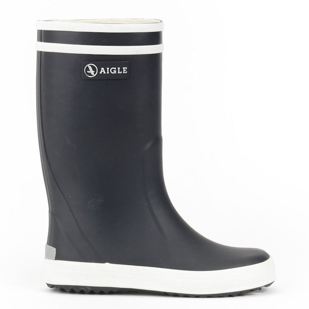Navy Lolly Pop Rubber Boots